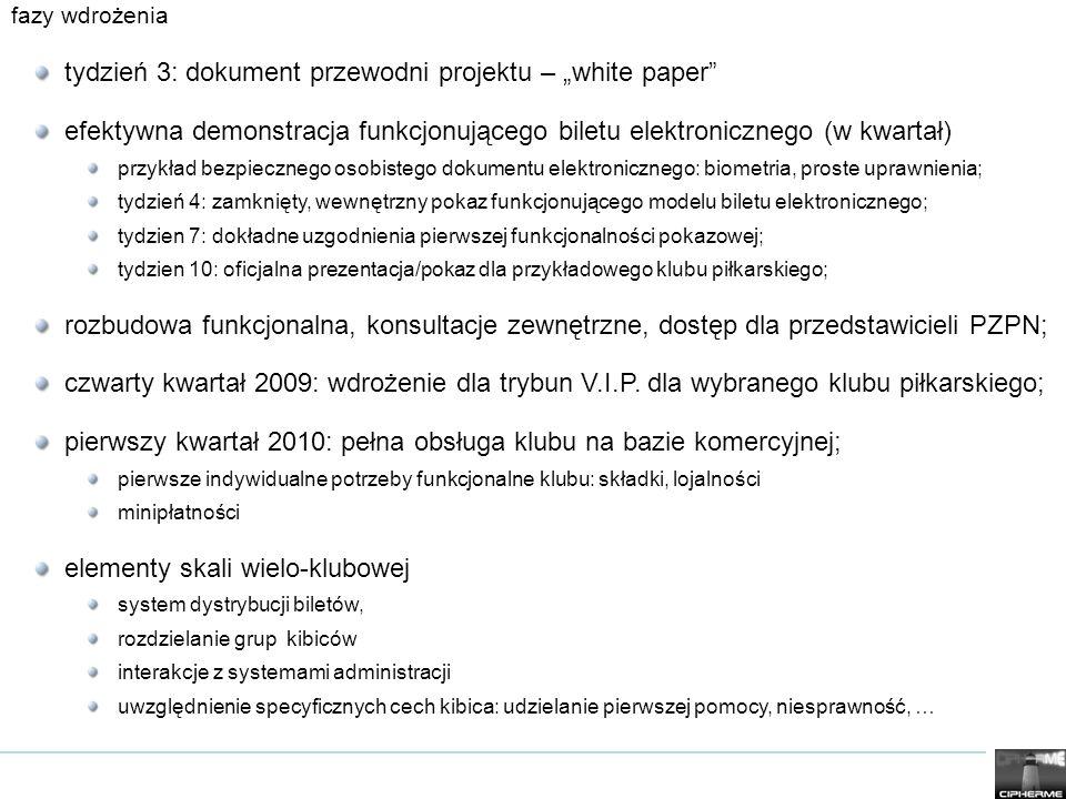 fazy wdrożenia tydzień 3: dokument przewodni projektu – white paper efektywna demonstracja funkcjonującego biletu elektronicznego (w kwartał) przykład
