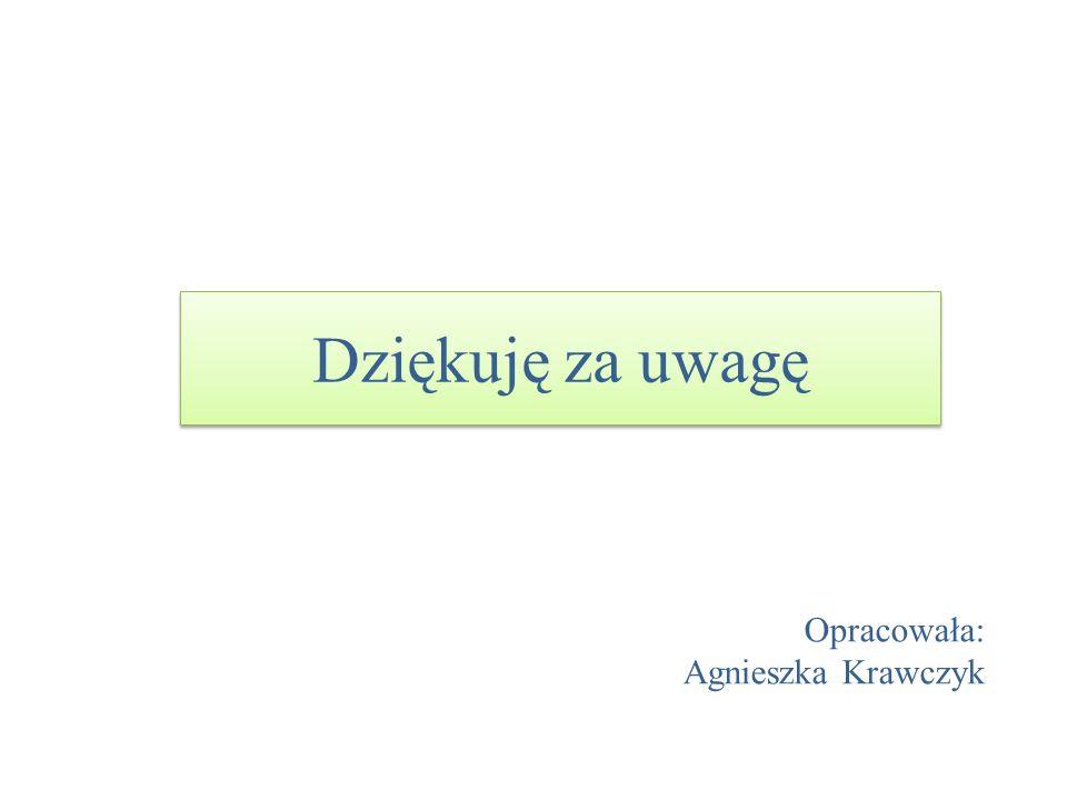 Dziękuję za uwagę Opracowała: Agnieszka Krawczyk