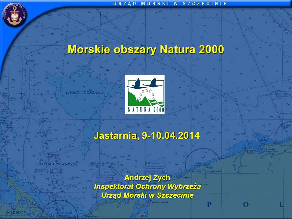 Morskie obszary Natura 2000 Andrzej Zych Inspektorat Ochrony Wybrzeża Urząd Morski w Szczecinie Jastarnia, 9-10.04.2014