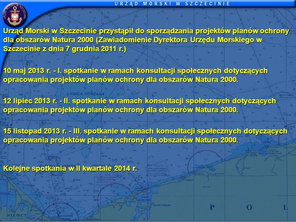 Urząd Morski w Szczecinie przystąpił do sporządzania projektów planów ochrony dla obszarów Natura 2000 (Zawiadomienie Dyrektora Urzędu Morskiego w Szc