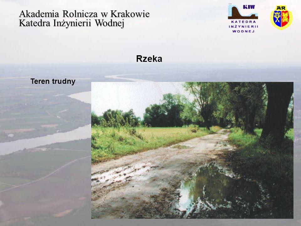 Akademia Rolnicza w Krakowie Katedra Inżynierii Wodnej Rzeka Teren trudny
