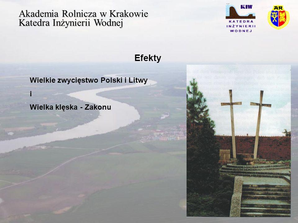 Akademia Rolnicza w Krakowie Katedra Inżynierii Wodnej Efekty Wielkie zwycięstwo Polski i Litwy i Wielka klęska - Zakonu