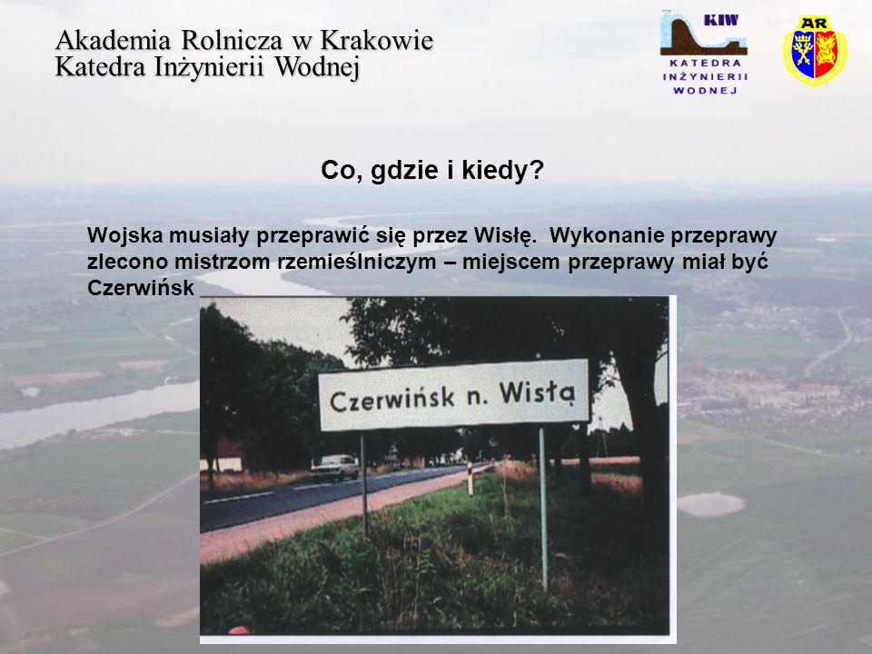 Akademia Rolnicza w Krakowie Katedra Inżynierii Wodnej Ogólna sytuacja Król Jagiełło znajdował się w samym środku sporu z potężnym Państwem Zakonnym