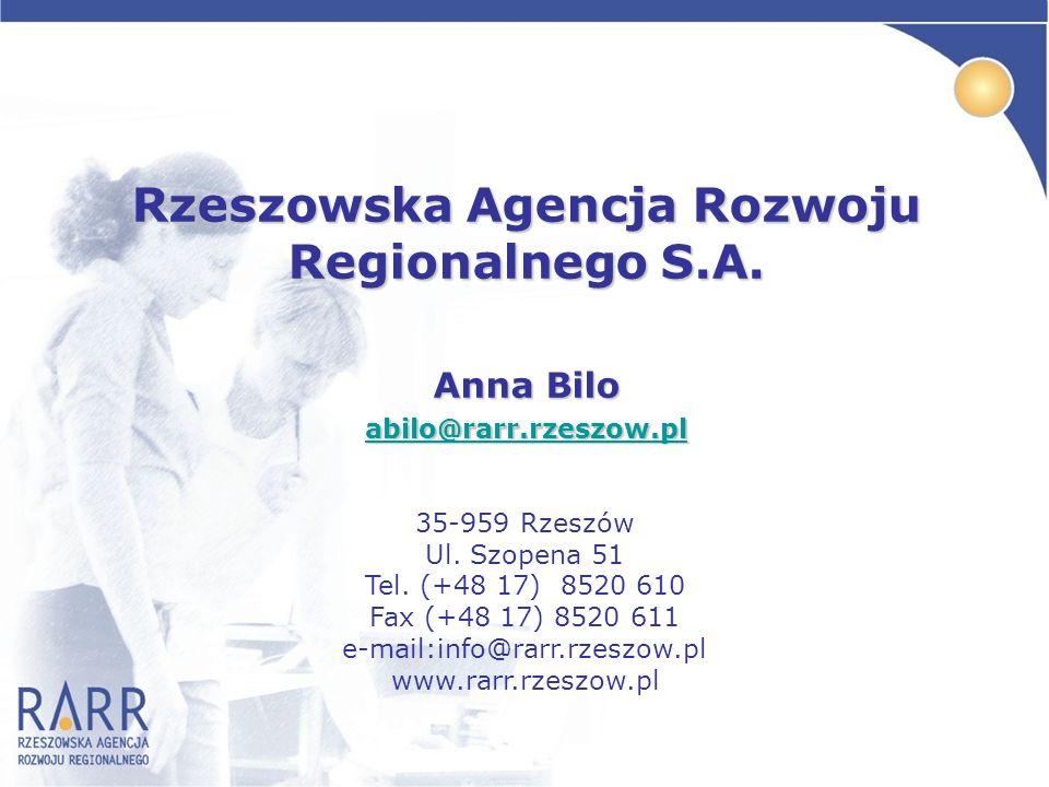Rzeszowska Agencja Rozwoju Regionalnego S.A.