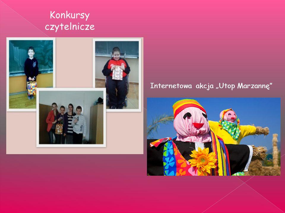 Konkursy czytelnicze Internetowa akcja Utop Marzannę