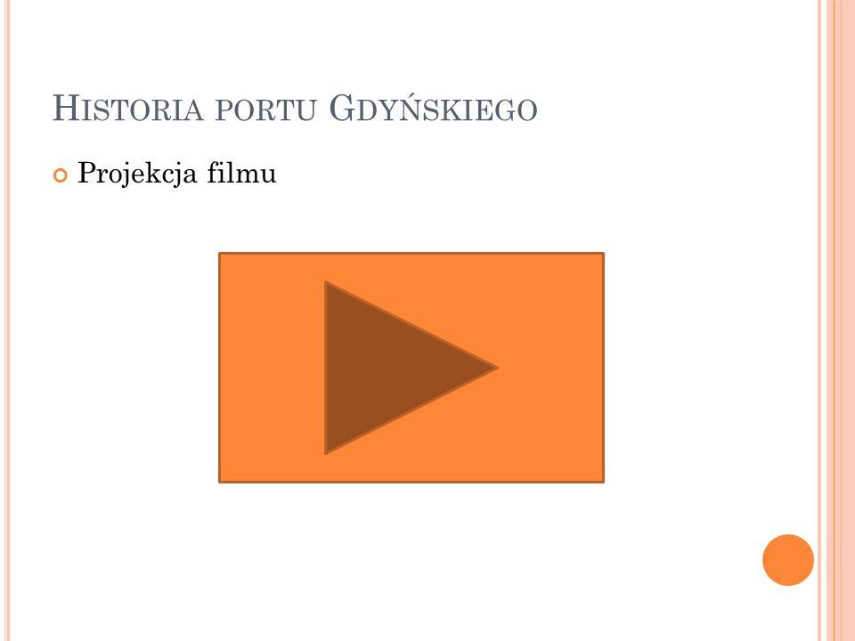 H ISTORIA PORTU G DYŃSKIEGO Projekcja filmu