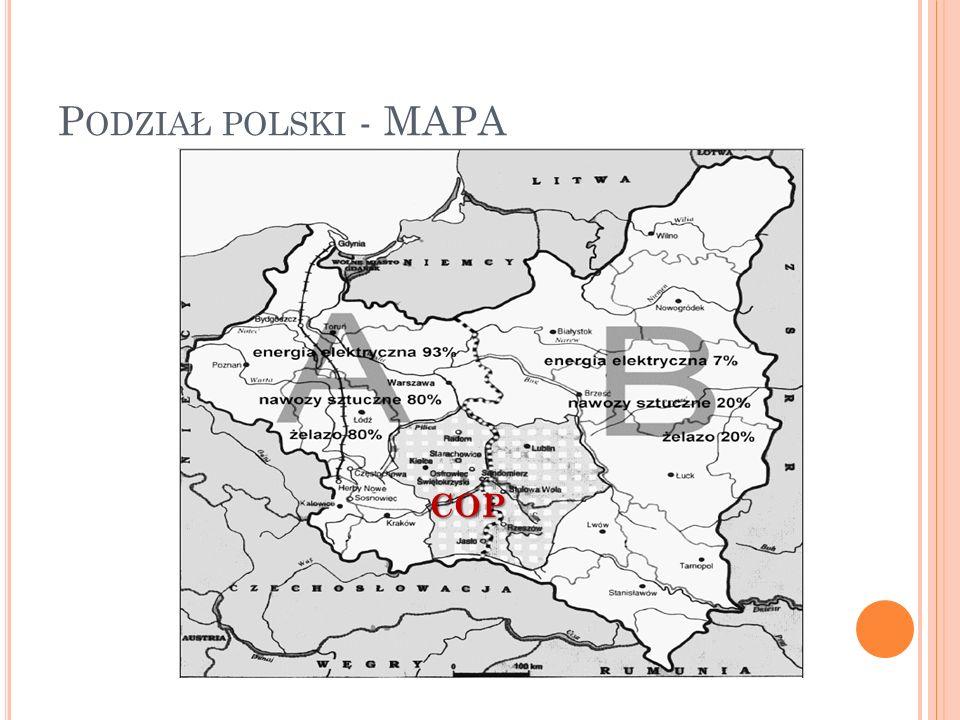 P ODZIAŁ POLSKI - MAPA COP