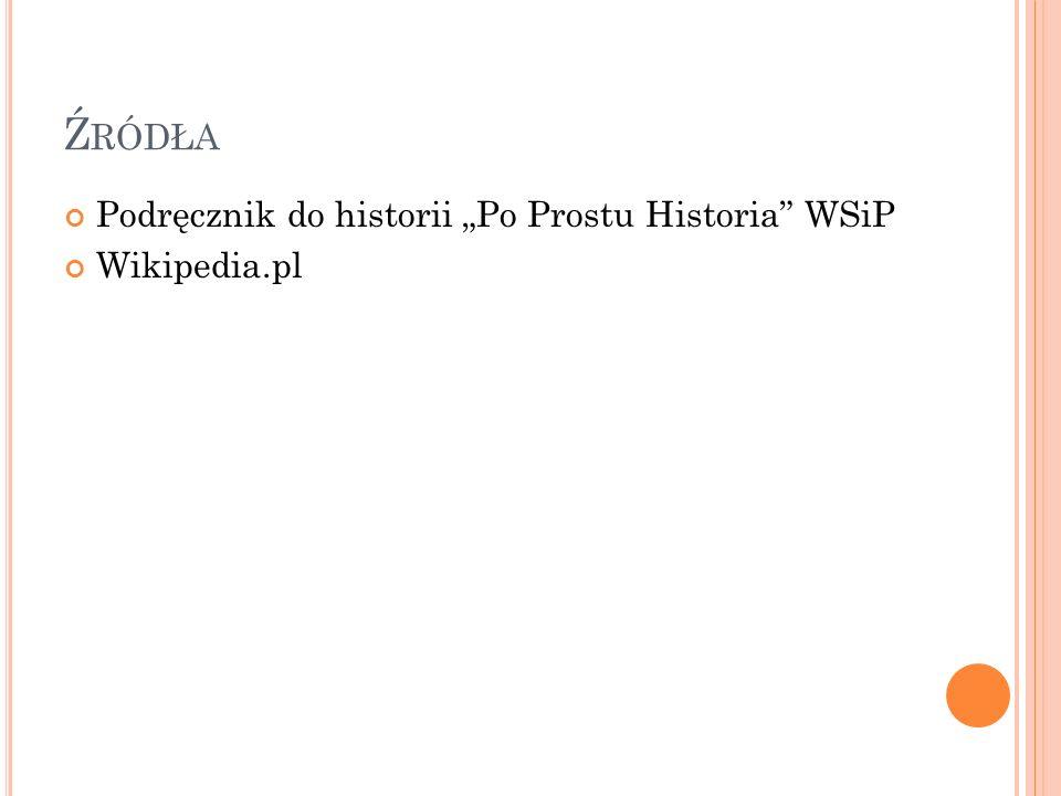 Ź RÓDŁA Podręcznik do historii Po Prostu Historia WSiP Wikipedia.pl