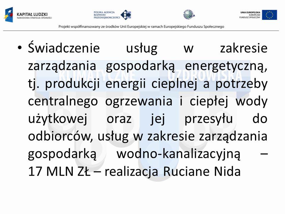 Świadczenie usług w zakresie zarządzania gospodarką energetyczną, tj.