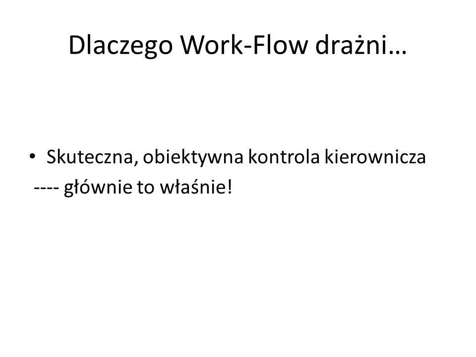 Dlaczego Work-Flow drażni… Skuteczna, obiektywna kontrola kierownicza ---- głównie to właśnie!