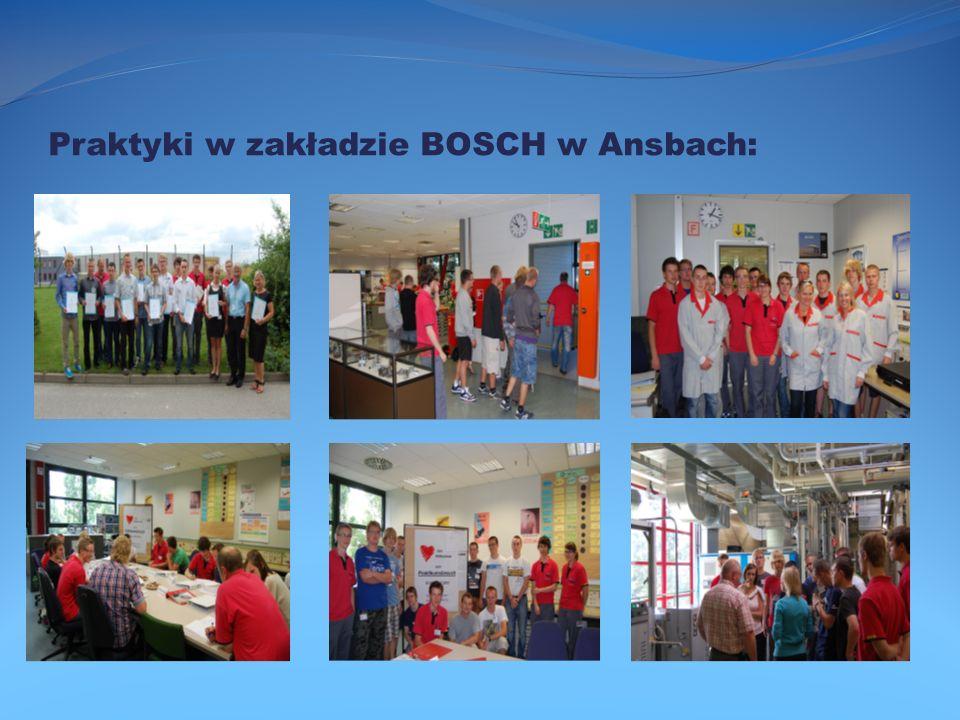 Praktyki w zakładzie BOSCH w Ansbach: