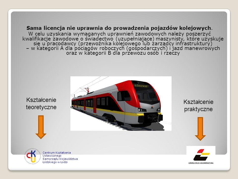 Sama licencja nie uprawnia do prowadzenia pojazdów kolejowych. W celu uzyskania wymaganych uprawnień zawodowych należy poszerzyć kwalifikacje zawodowe