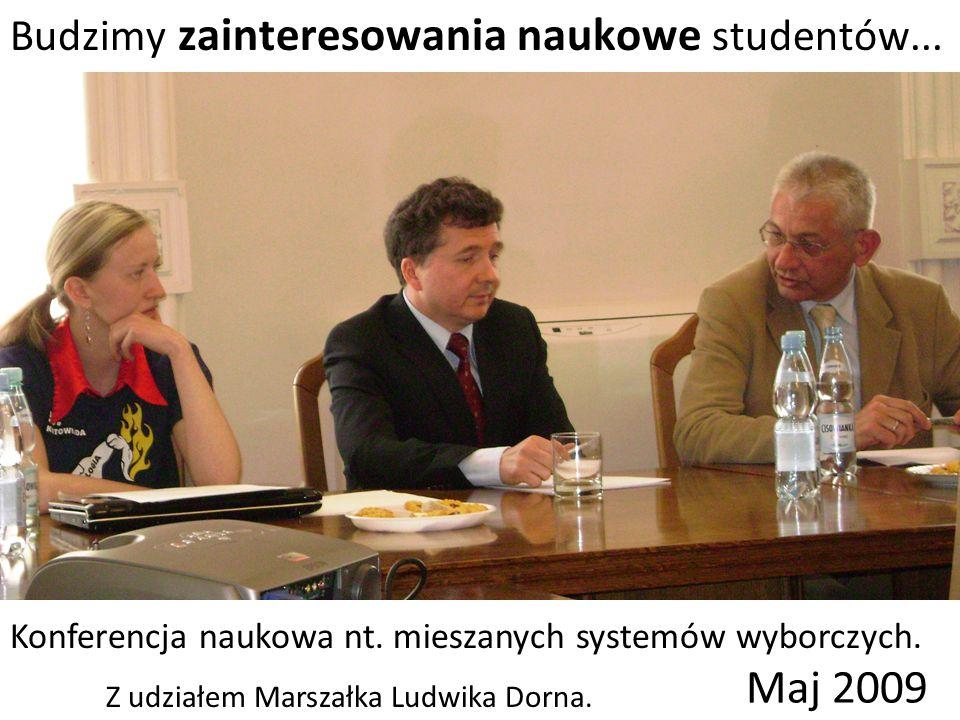 Budzimy zainteresowania naukowe studentów... Konferencja naukowa nt.
