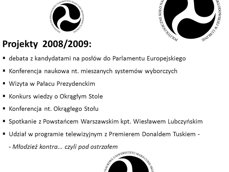 Planujemy w 2009/2010: gra negocjacyjna cykl spotkań o przestępczości konferencja naukowa nt.