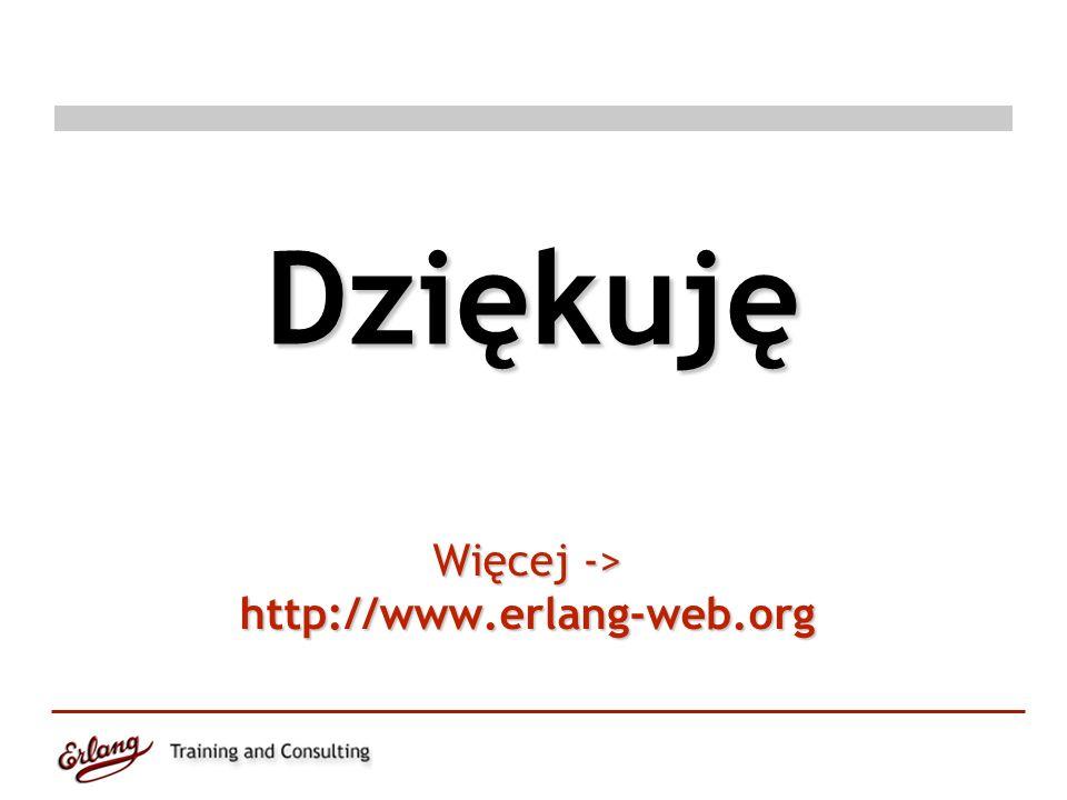 Więcej -> http://www.erlang-web.org Dziękuję