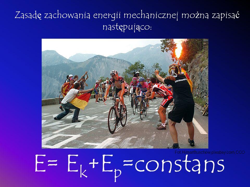 ZASADA ZACHOWANIA ENERGII MECHANICZNEJ Okre ś lona ilo ść energii jednego rodzaju mo ż e zosta ć zamieniona w równ ą ilo ść energii innego rodzaju. Oz