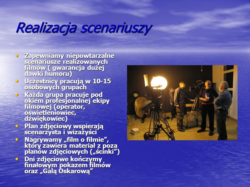 Proponowane scenariusze filmowe Do Państwa dyspozycji oddajemy niepowtarzalne scenariusze, np : Do Państwa dyspozycji oddajemy niepowtarzalne scenariusze, np : Incognito - czyli jak to jest być gwiazdą Incognito - czyli jak to jest być gwiazdą Być albo...