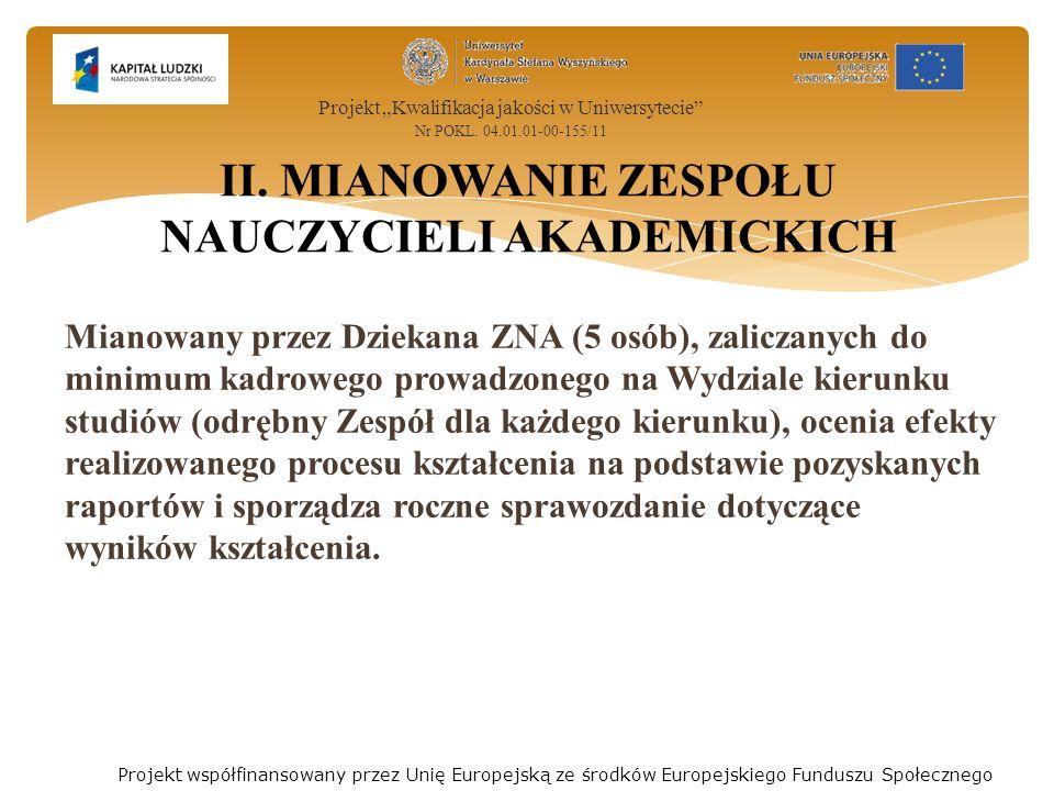 1.Zaliczenie roku akademickiego * Studia ST * Studia NST Poszczególne roczniki, uwagi ZNA 2.