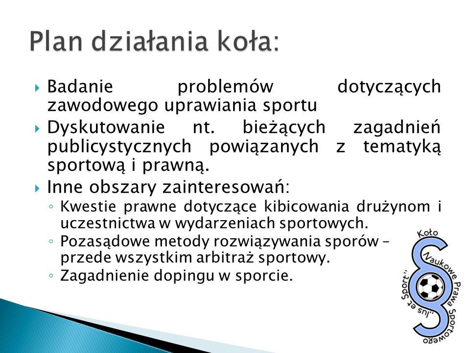 prof.Andrzej Wach - Czym jest prawo sportowe?; Charakter prawny licencji sportowych.