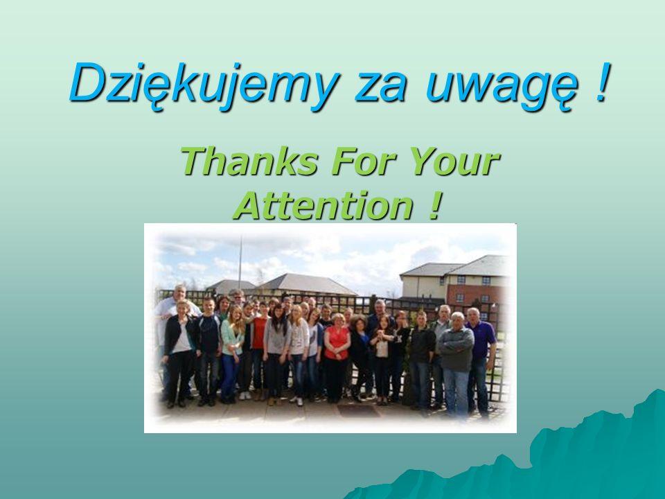 Dziękujemy za uwagę ! Thanks For Your Attention !