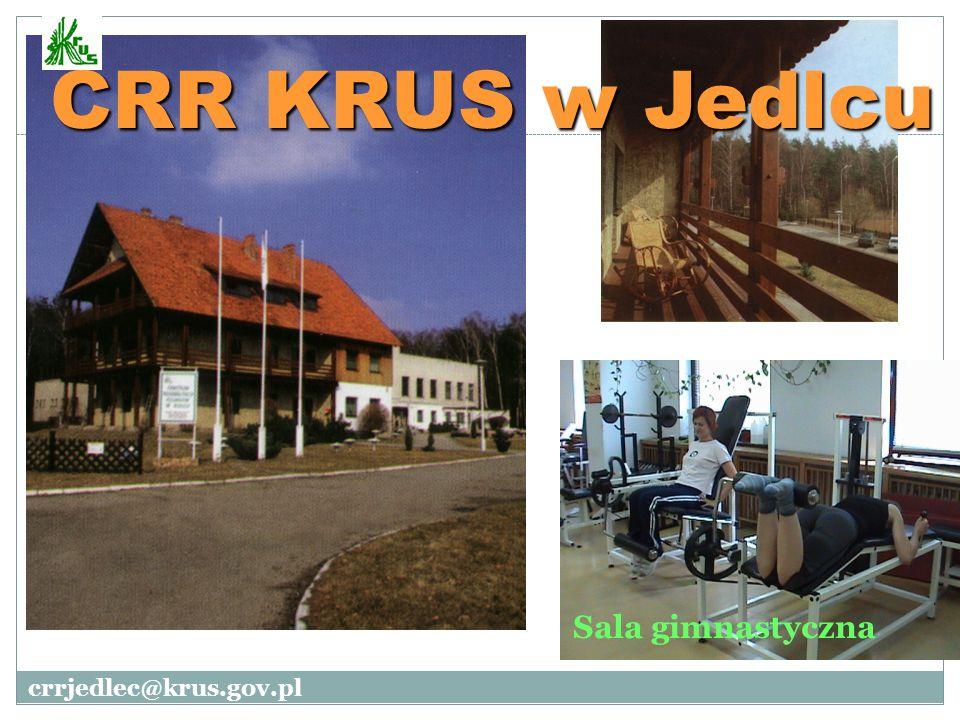 Sala gimnastyczna CRR KRUS w Jedlcu crrjedlec@krus.gov.pl