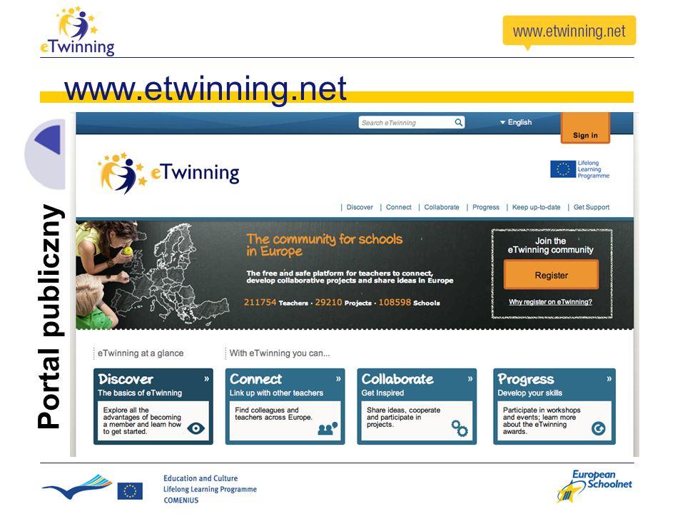 www.etwinning.net Portal publiczny