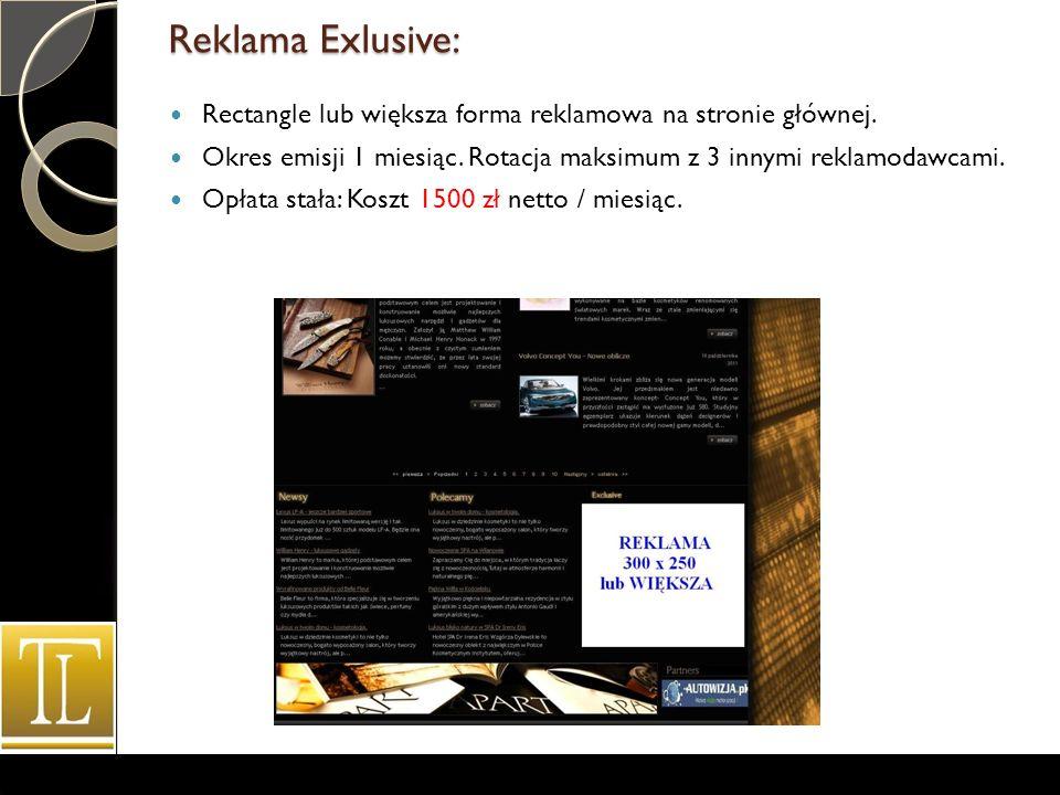 Reklama Exlusive: Rectangle lub większa forma reklamowa na stronie głównej.