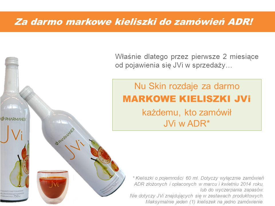 Za darmo markowe kieliszki do zamówień ADR! * Kieliszki o pojemności 60 ml. Dotyczy wyłącznie zamówień ADR złożonych i opłaconych w marcu i kwietniu 2
