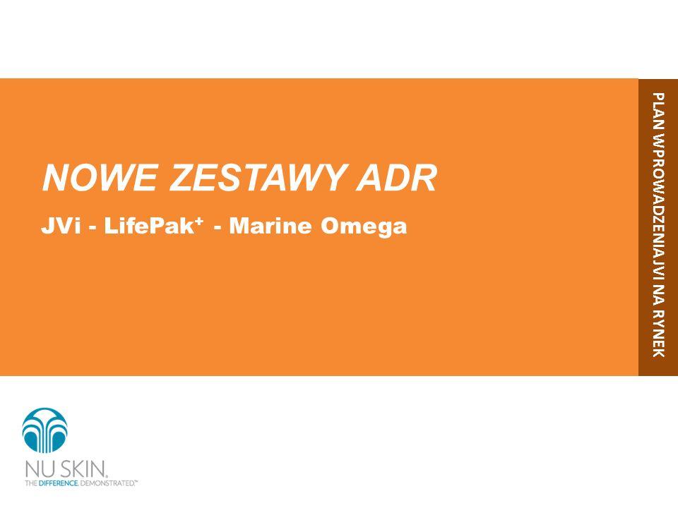 Wszystkie kluczowe składniki odżywcze w 1 zestawie ADR Mogą się Państwo cieszyć zaletami produktów JVi, LifePak + i Marine Omega*.