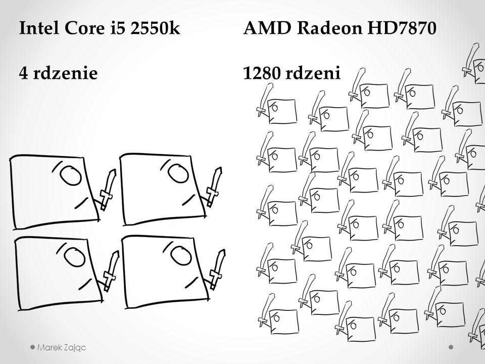 Marek Zając Intel Core i5 2550k 4 rdzenie AMD Radeon HD7870 1280 rdzeni