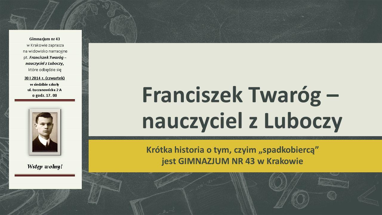 Franciszek Twaróg (ur.2 IV 1891 w Łuczanowicach, zm.