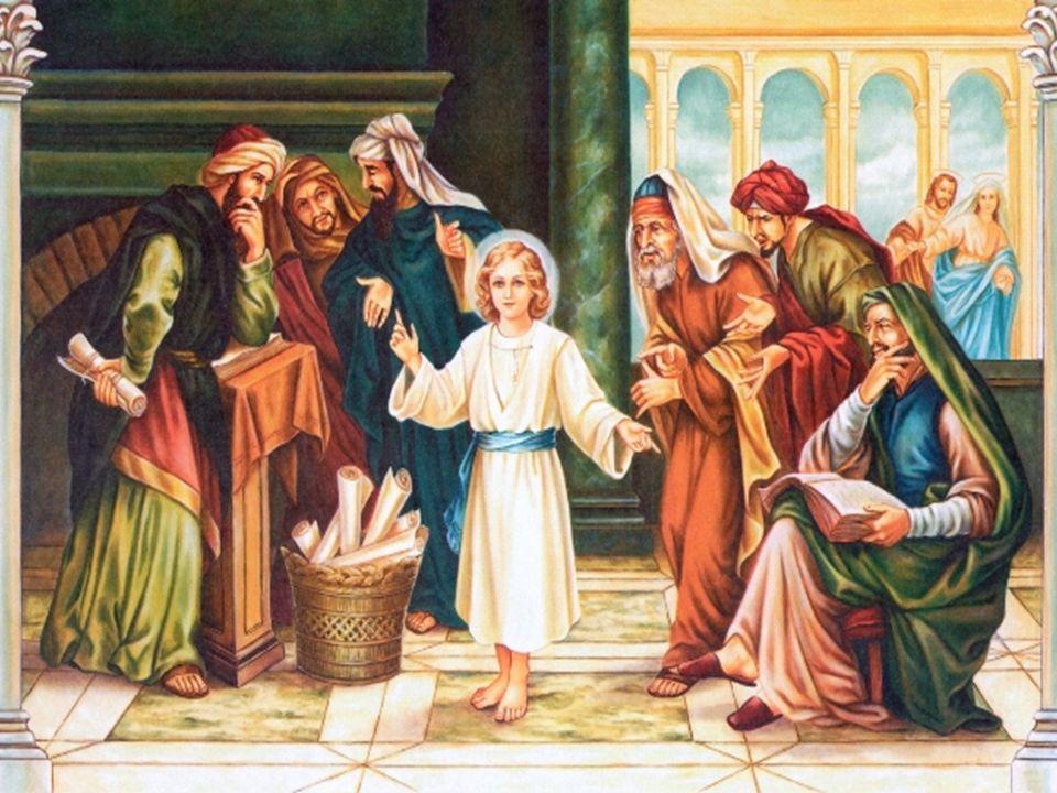 MARYJA I JÓZEF ODNAJDUJĄ PANA JEZUSA W ŚWIĄTYNI GDZIE NAUCZA UCZONYCH