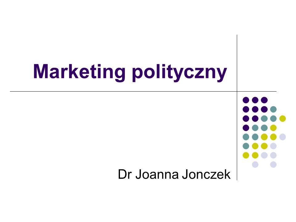 Marketing polityczny Dr Joanna Jonczek