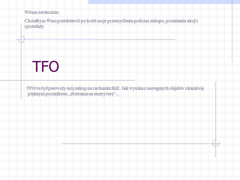 TFO TFO to był pierwszy mój zakup na rachunku IKE.