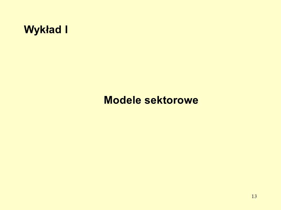 13 Wykład I Modele sektorowe