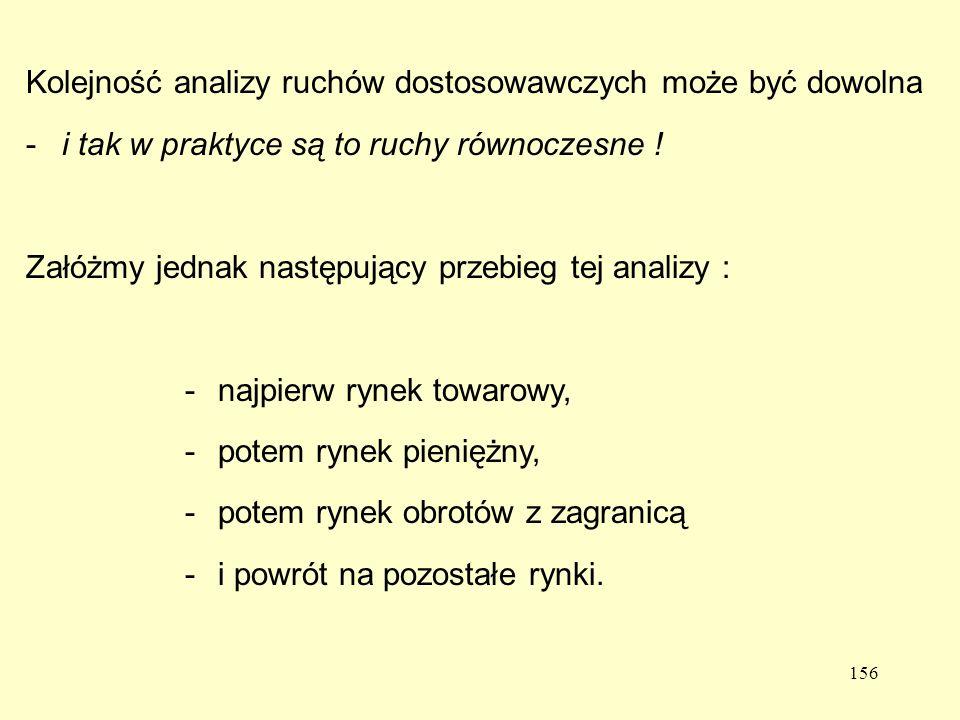 156 Kolejność analizy ruchów dostosowawczych może być dowolna -i tak w praktyce są to ruchy równoczesne .