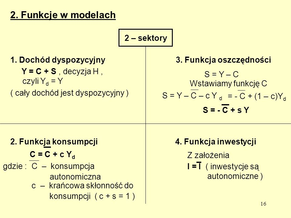 16 2.Funkcje w modelach 2 – sektory 1.