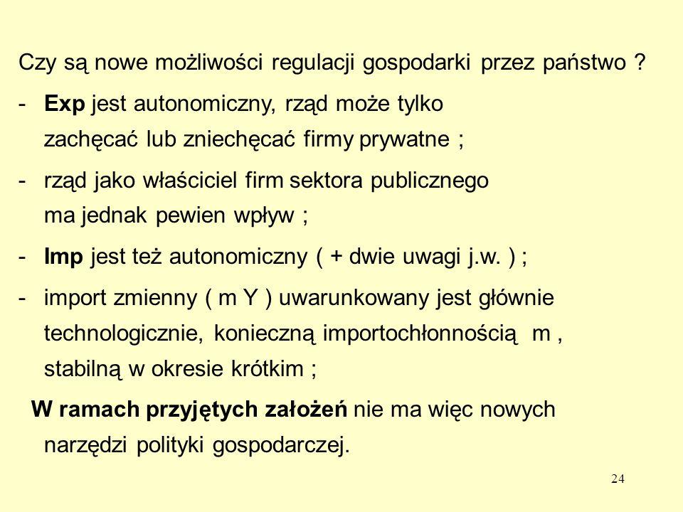 24 Czy są nowe możliwości regulacji gospodarki przez państwo .