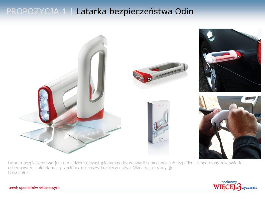 PROPOZYCJA 2 | Latarka bezpieczeństwa z magnesem Latarka aluminiowa z 9 białymi diodami LED na szczycie, 18 białych diod LED i 6 czerwonych diod LED na bocznej stronie.D.