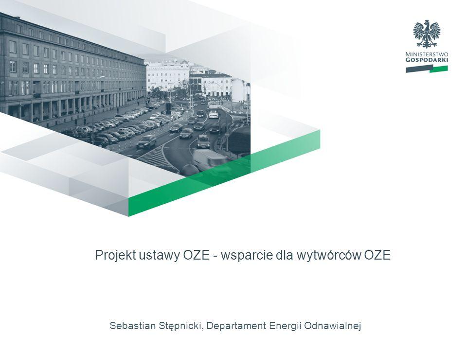 2 Projekt ustawy OZE warunki działalności dla wytwarzania energii elektrycznej z OZE mechanizmy i instrumenty wspierające wytwarzanie energii elektrycznej z OZE zasady wydawania gwarancji pochodzenia energii elektrycznej wytwarzanej z OZE zasady realizacji krajowego planu działania w zakresie energii ze źródeł odnawialnych warunki certyfikacji instalatorów mikro i małych instalacji oraz akredytacji ośrodków szkoleniowych zasady współpracy międzynarodowej w dziedzinie OZE i wspólnych projektów inwestycyjnych Struktura ustawy