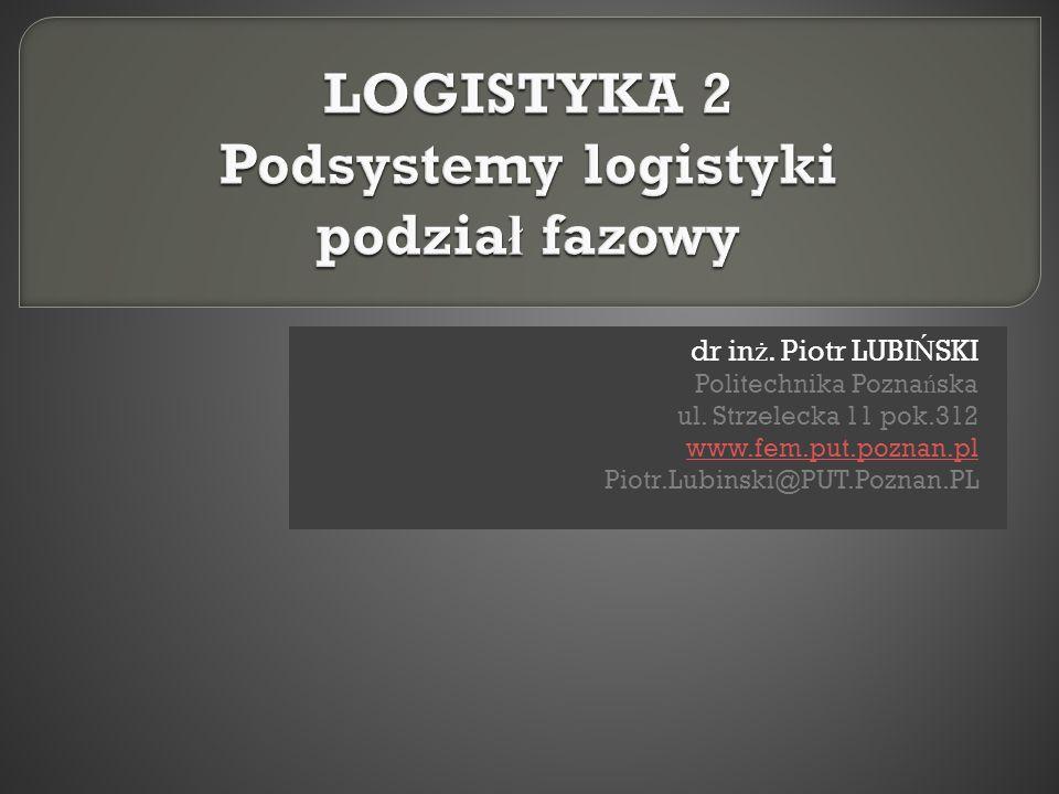 dr in ż. Piotr LUBI Ń SKI Politechnika Pozna ń ska ul. Strzelecka 11 pok.312 www.fem.put.poznan.pl Piotr.Lubinski@PUT.Poznan.PL