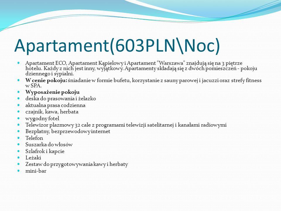 Apartament(603PLN\Noc) Apartament ECO, Apartament Kąpielowy i Apartament Warszawa znajdują się na 3 piętrze hotelu.