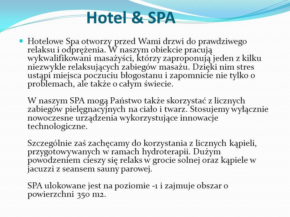 Hotel & SPA Hotelowe Spa otworzy przed Wami drzwi do prawdziwego relaksu i odprężenia.