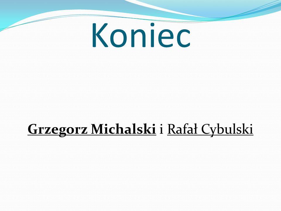 Koniec Grzegorz Michalski i Rafał Cybulski