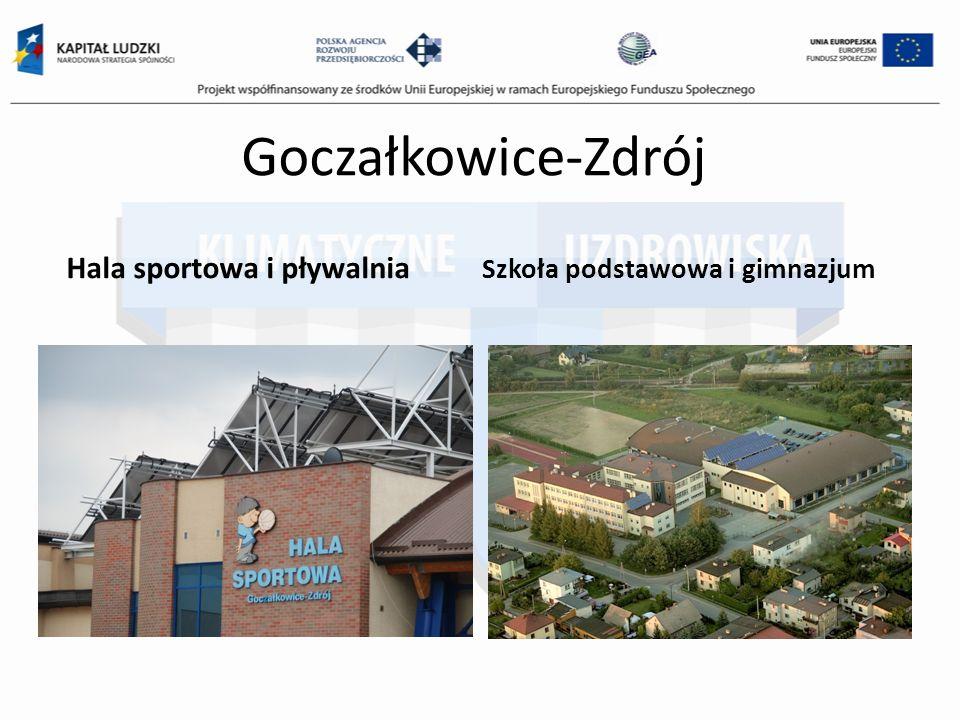 Goczałkowice-Zdrój Hala sportowa i pływalnia Szkoła podstawowa i gimnazjum