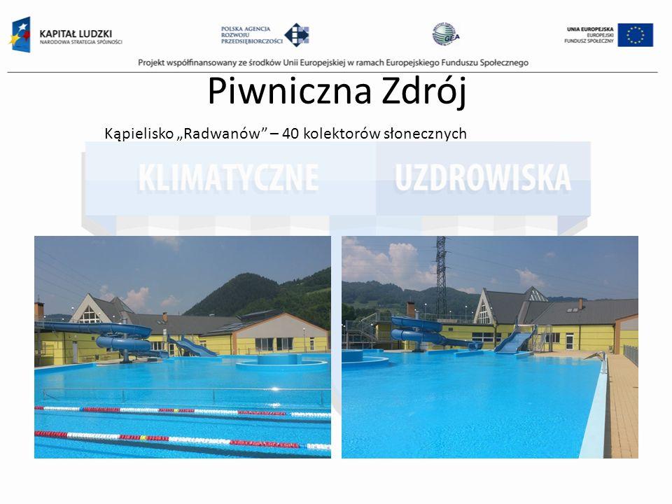 Piwniczna Zdrój Kąpielisko Radwanów – 40 kolektorów słonecznych