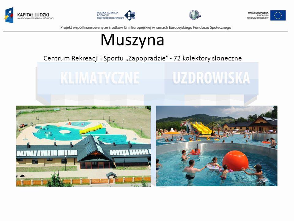 Muszyna Centrum Rekreacji i Sportu Zapopradzie - 72 kolektory słoneczne