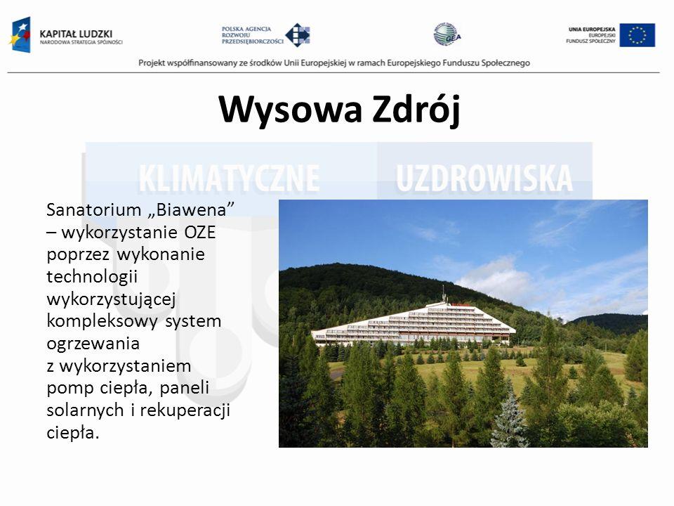 Wysowa Zdrój Sanatorium Biawena – wykorzystanie OZE poprzez wykonanie technologii wykorzystującej kompleksowy system ogrzewania z wykorzystaniem pomp