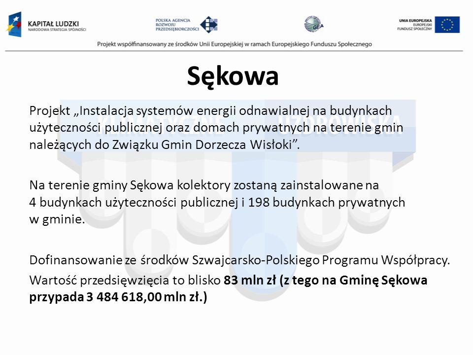 Sękowa Projekt Instalacja systemów energii odnawialnej na budynkach użyteczności publicznej oraz domach prywatnych na terenie gmin należących do Związ