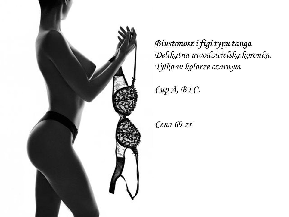 Biustonosz i figi typu tanga Delikatna uwodzicielska koronka.